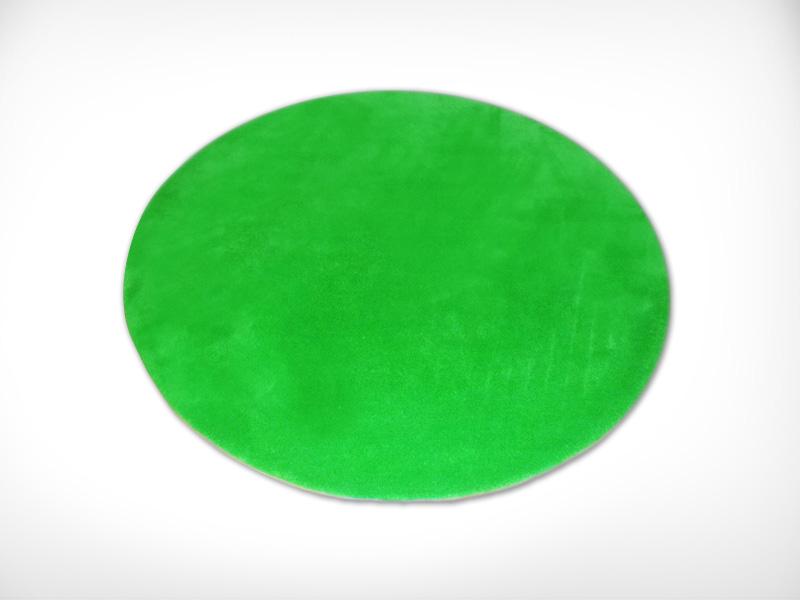 Green Round Rug / 綠色圓形地毯