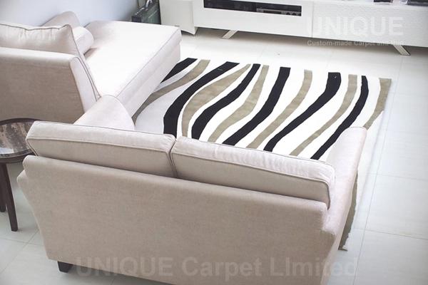 Zebra Pattern Rug / 斑馬紋羊毛地氈