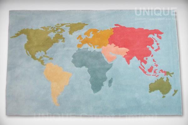Worldmap Area Rug 世界地圖地氈 Unique Custom Made Carpet And Rug