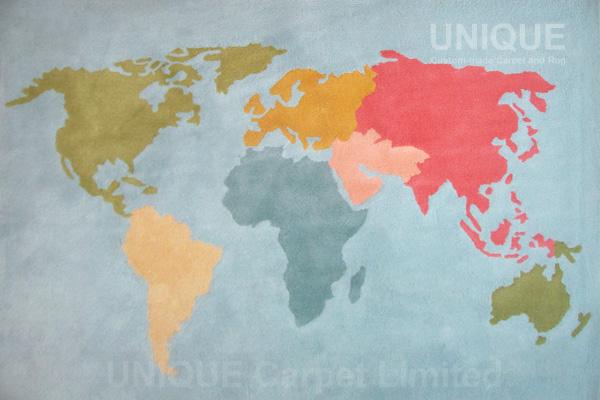 Worldmap Area Rug / 世界地圖地氈