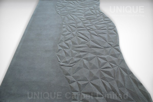 Pyramid Wool Carpet 金字塔立體剪裁地氈 Unique Custom Made